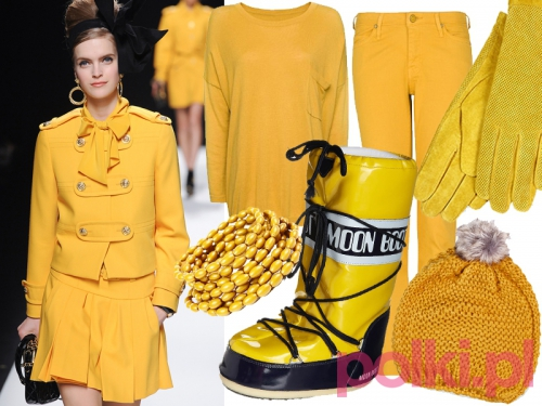 kolor żółty w modzie