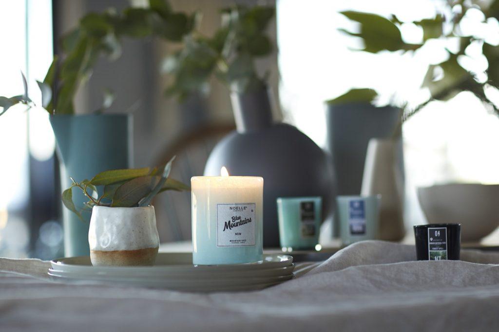 Niebieska świeca